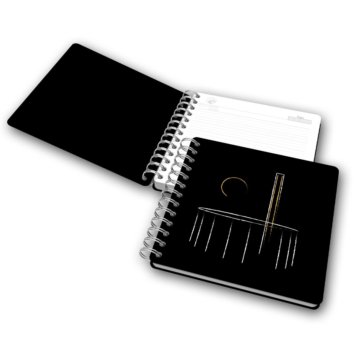 Caderno SSG 25 anos - Preto com pauta